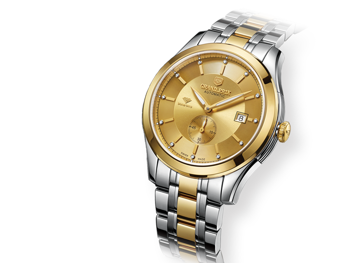 LAMINATED K GOLD MECHANICAL WATCHES
